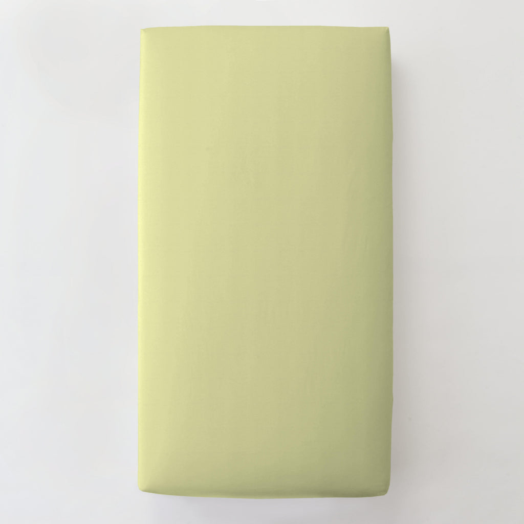 Product image for Solid Light Lime Toddler Sheet Bottom Fitted