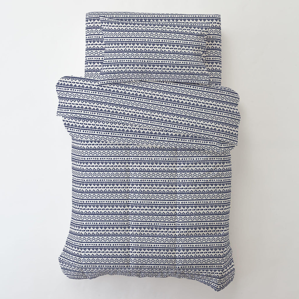 Product image for Windsor Navy Baby Aztec Toddler Pillow Case with Pillow Insert