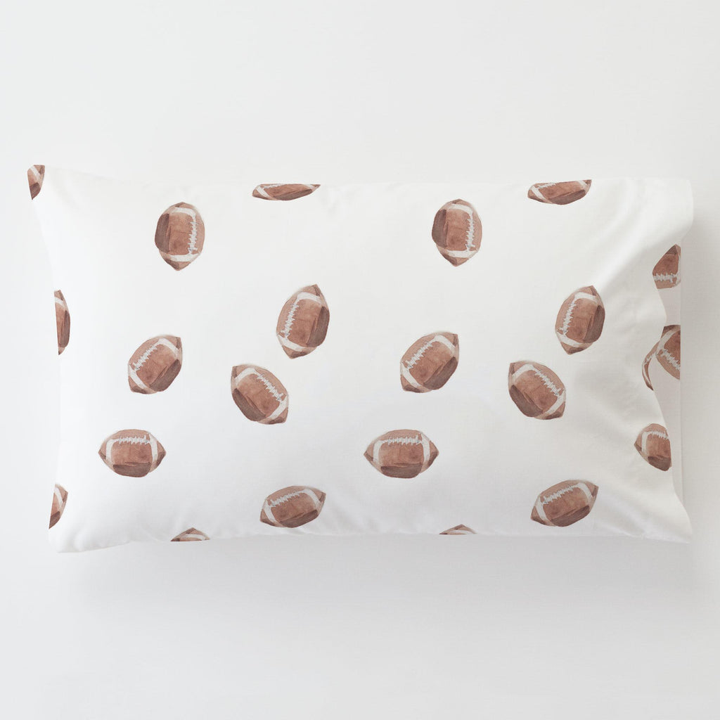 Product image for Watercolor Football Toddler Pillow Case