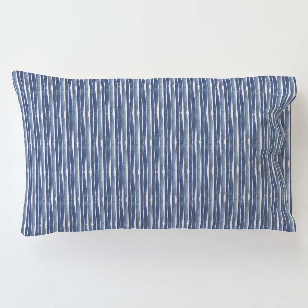 Product image for Blue Ocean Stripe Toddler Pillow Case