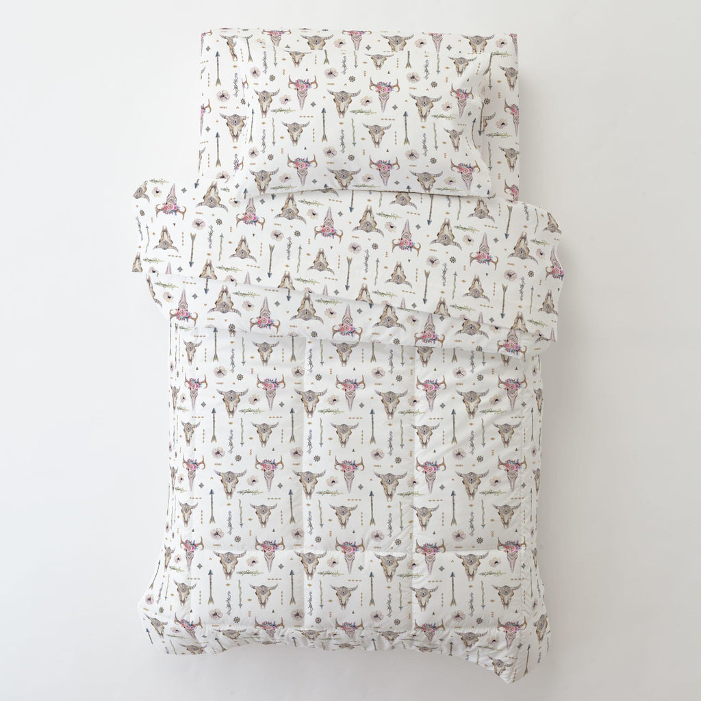 Product image for Pink Boho Toddler Pillow Case with Pillow Insert
