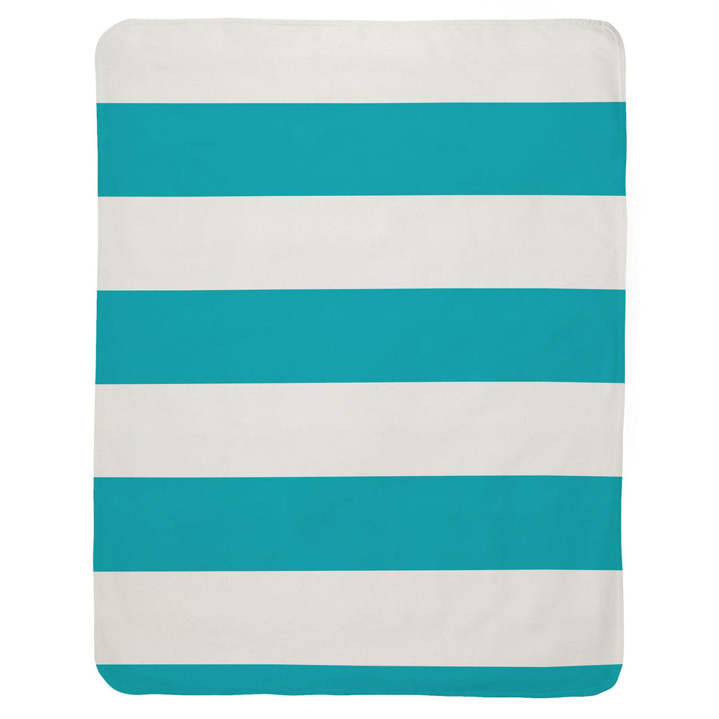 Product image for Teal Horizontal Stripe Baby Blanket
