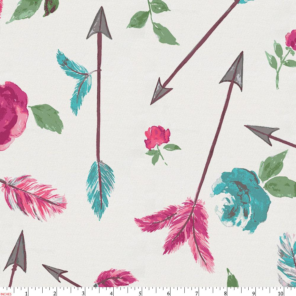 Product image for Floral Arrow Fabric