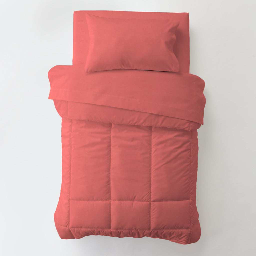 Product image for Solid Coral Toddler Comforter