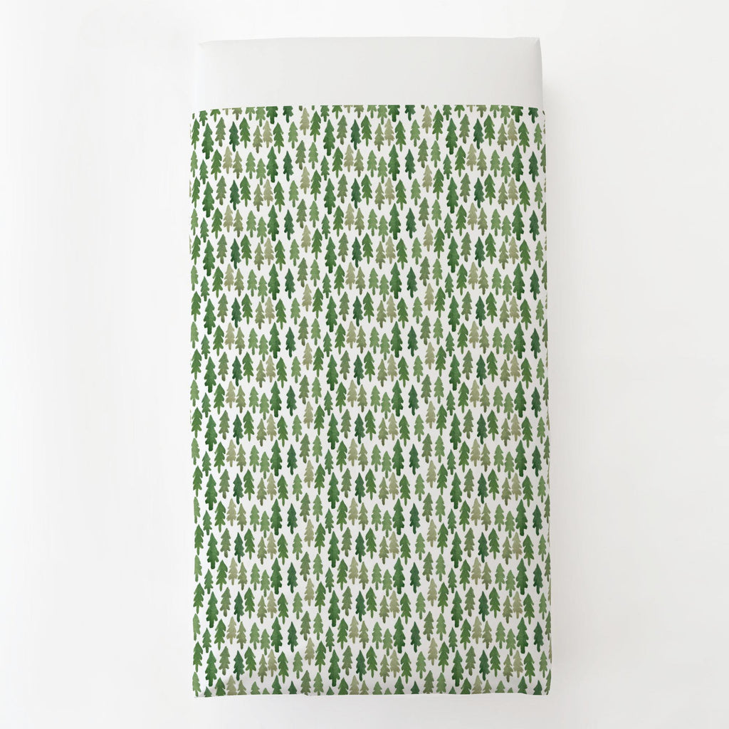 Product image for Evergreen Forest Toddler Sheet Top Flat