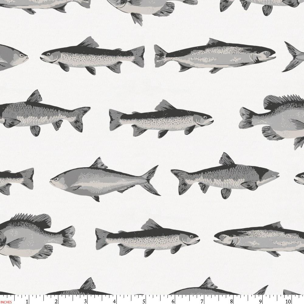 Product image for Gray Fish Fabric