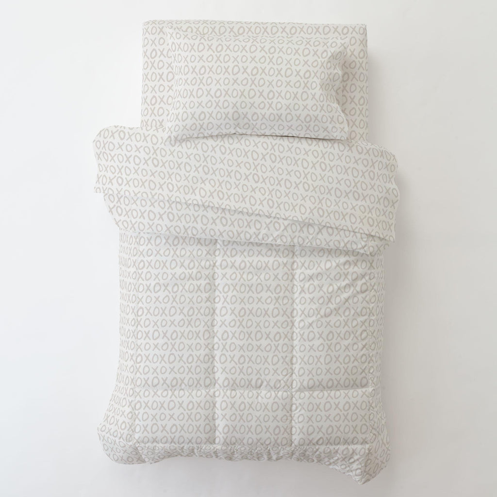 Product image for Taupe XO Toddler Comforter