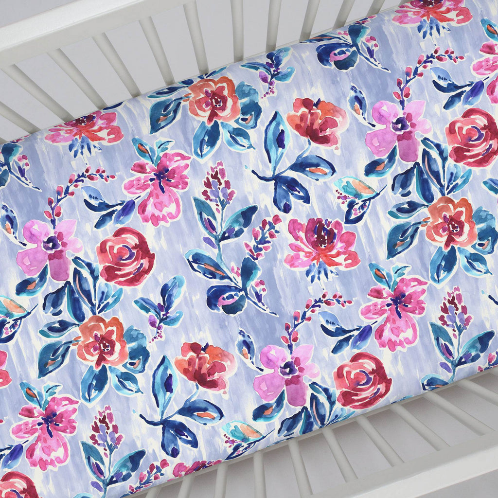 Product image for Pink and Lavender Garden Crib Sheet
