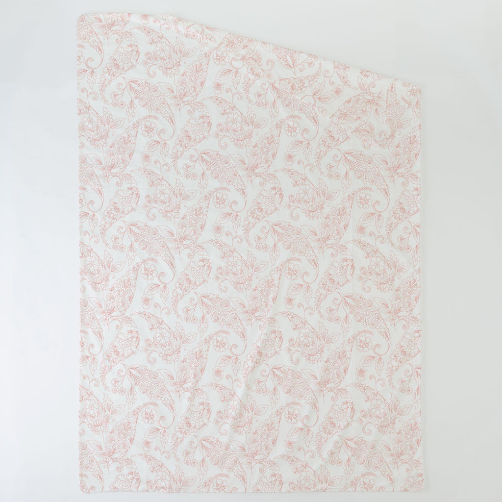 Product image for Light Coral Sketchbook Floral Duvet Cover