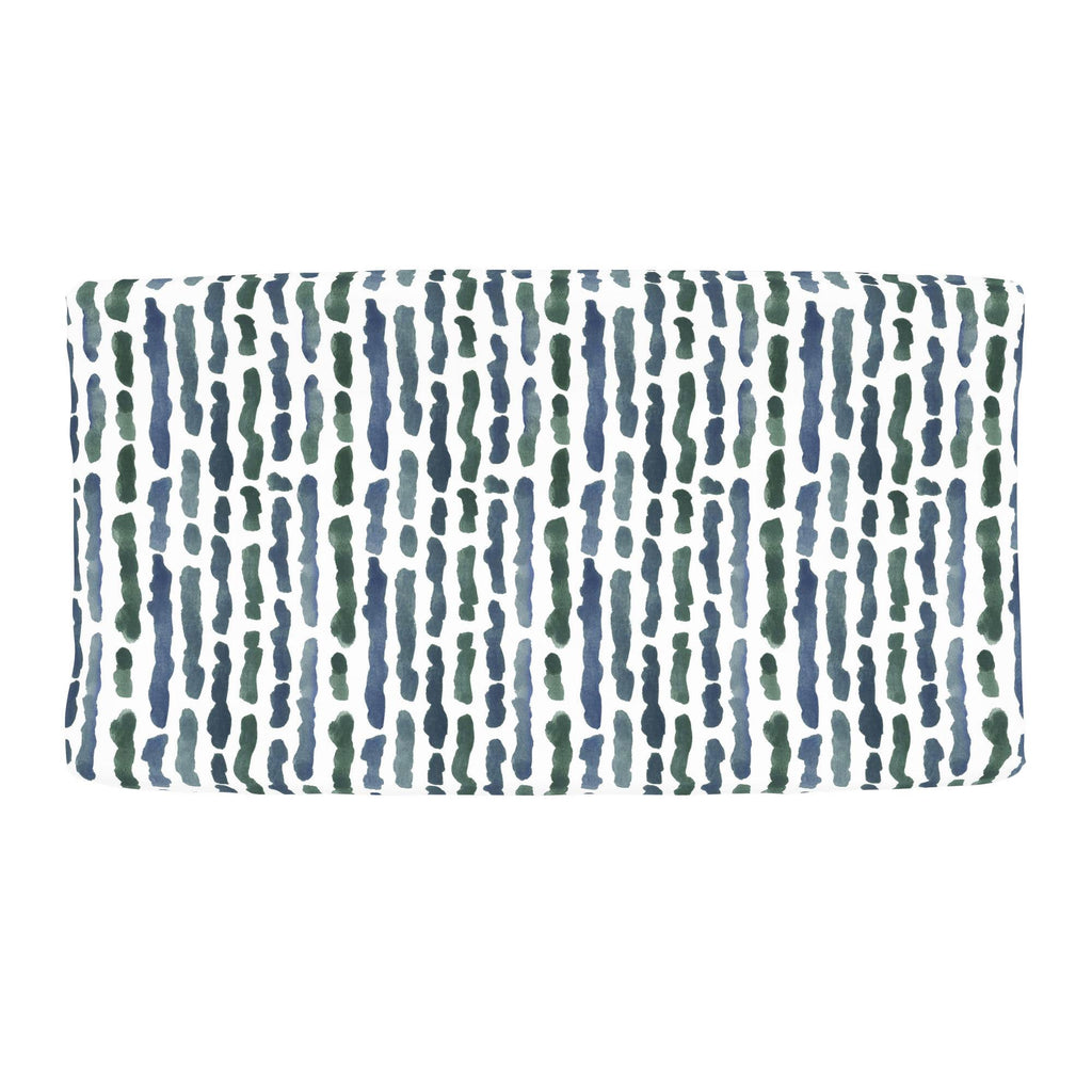 Product image for Sea Green Stripe Changing Pad Cover