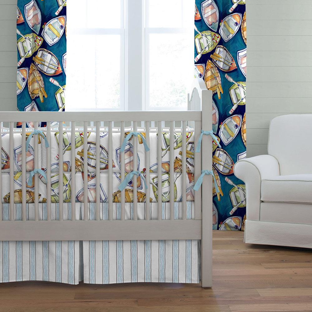 Product image for Watercolor Boats Crib Bumper