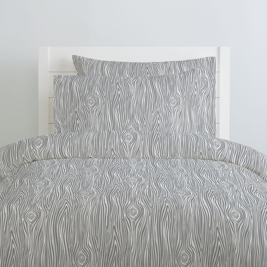 Product image for Gray Woodgrain Pillow Case