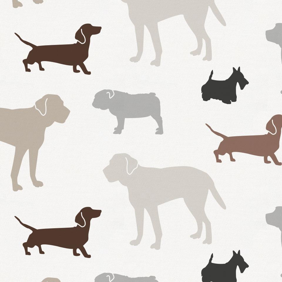 Product image for Brown and Gray Dogs Drape Panel