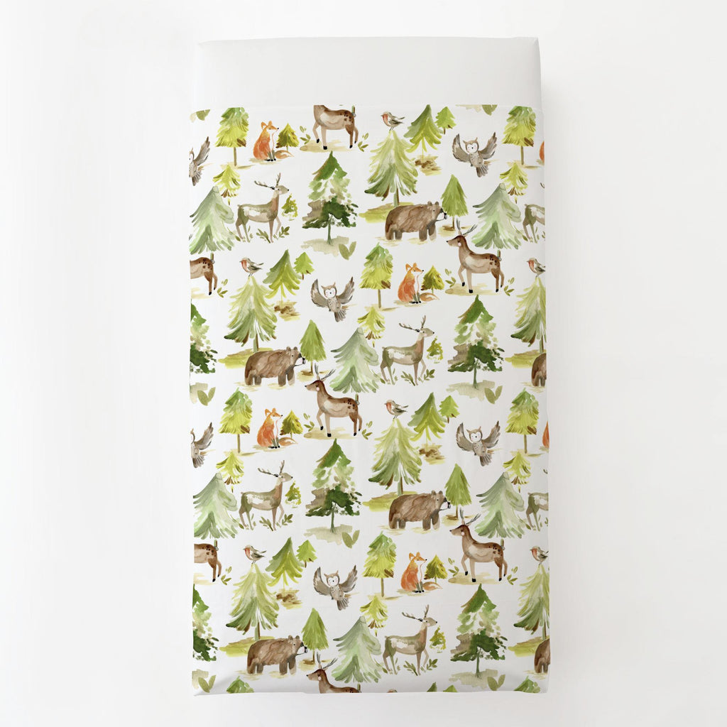 Product image for Painted Forest Toddler Sheet Top Flat