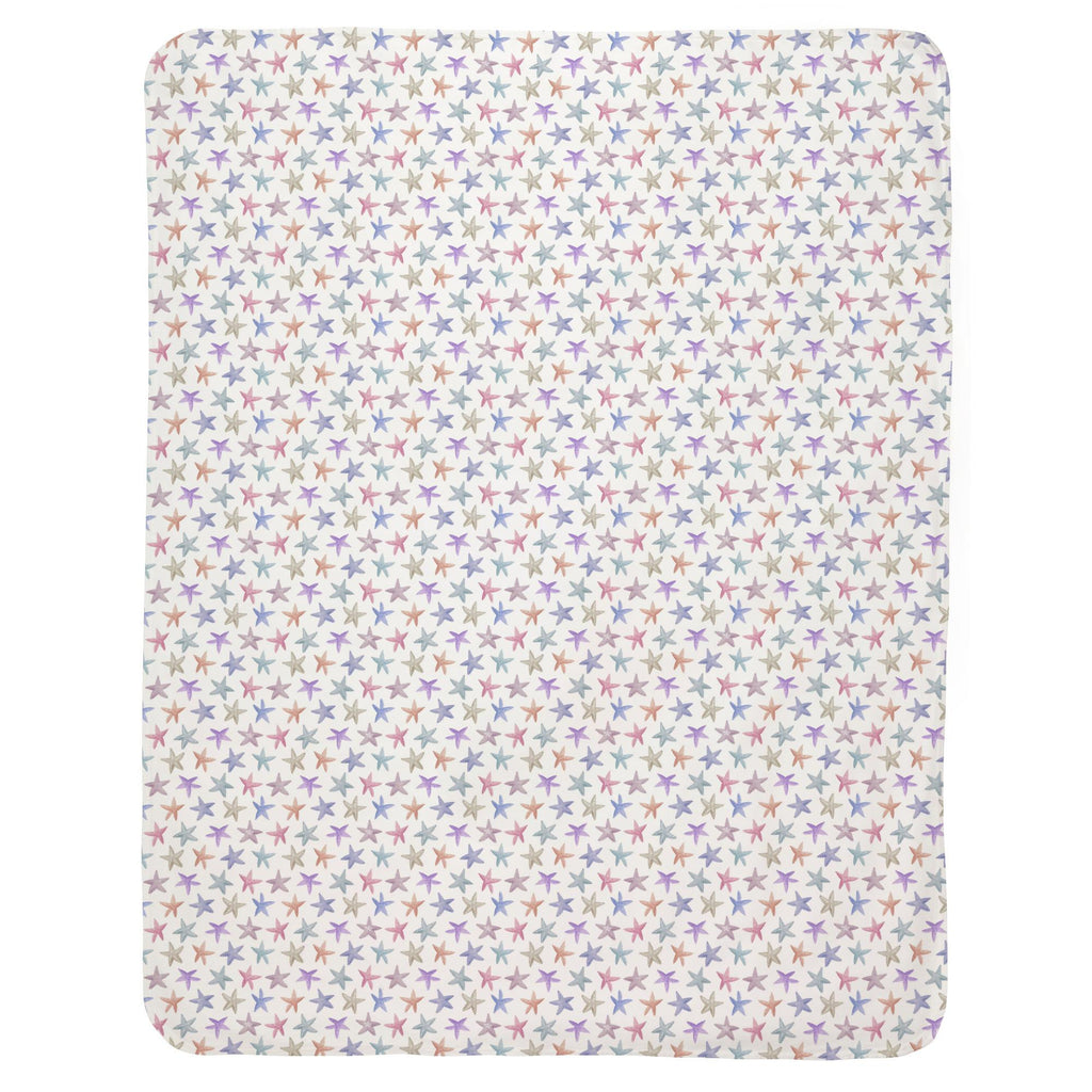 Product image for Watercolor Starfish Baby Blanket