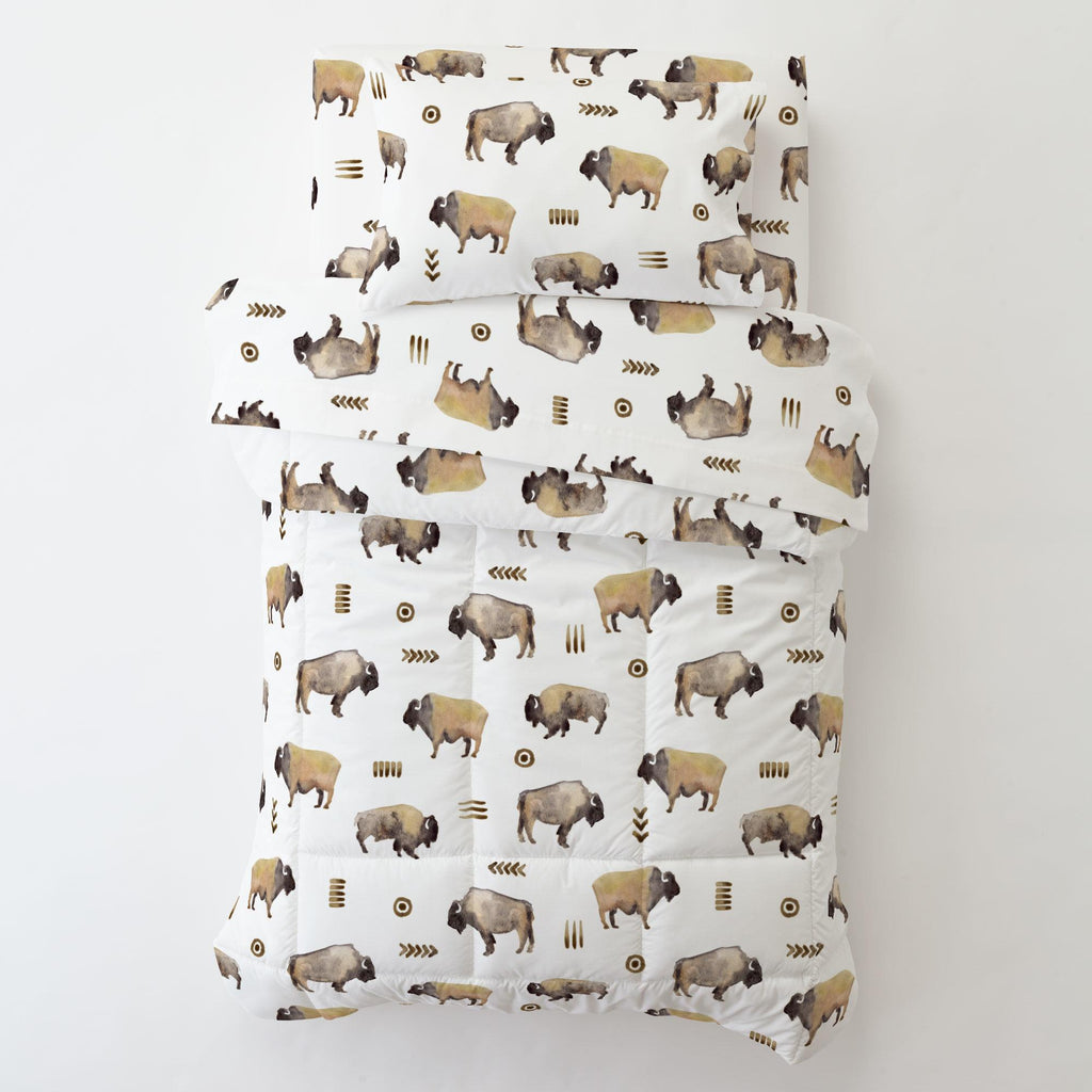 Product image for Watercolor Buffalo Toddler Comforter