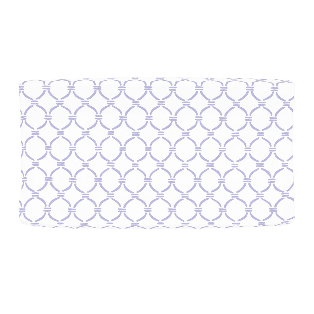 Product image for Lilac Lattice Circles Changing Pad Cover