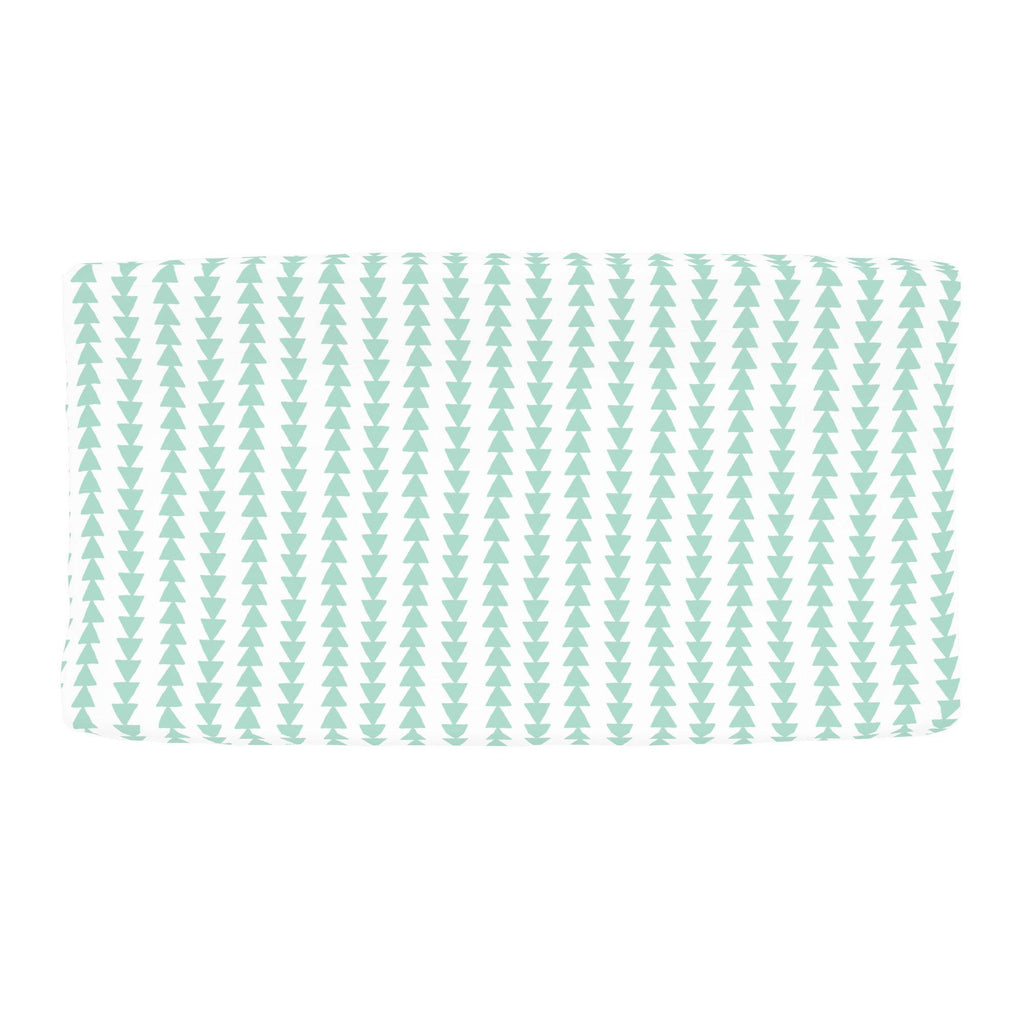 Product image for Mint Arrow Stripe Changing Pad Cover