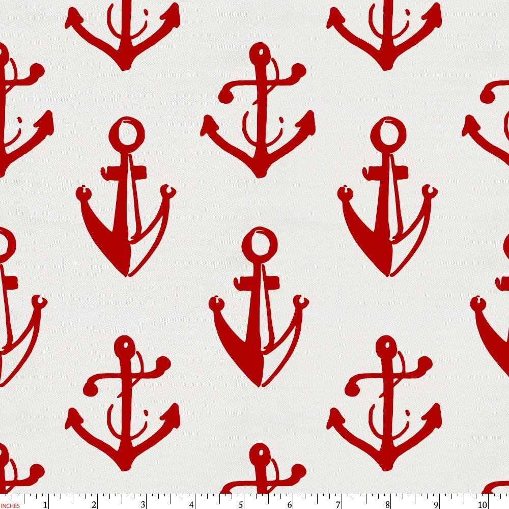 Product image for Red Anchors Fabric