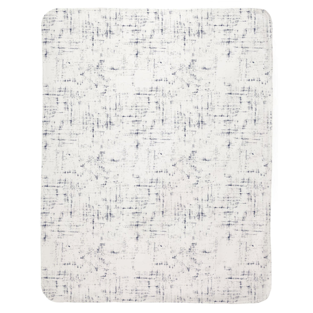 Product image for Navy Distressed Baby Blanket