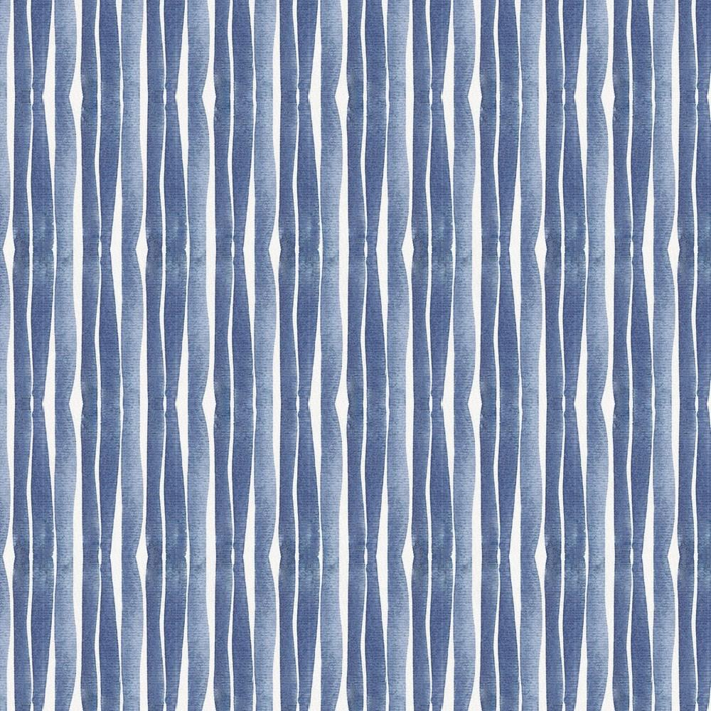 Product image for Blue Ocean Stripe Accent Pillow