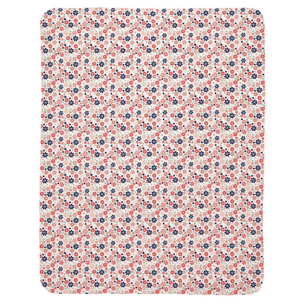 Product image for Coral Spring Flowers Baby Blanket