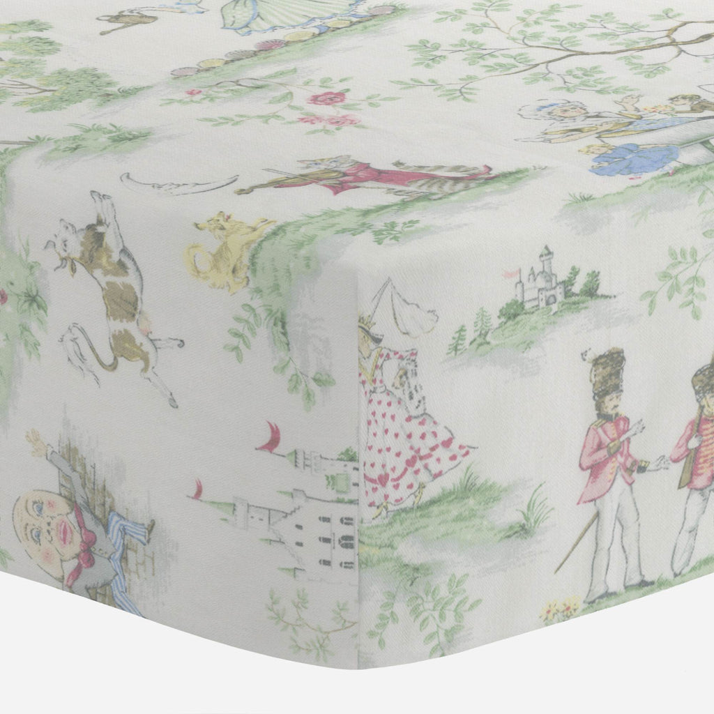 Product image for Nursery Rhyme Toile Mini Crib Sheet