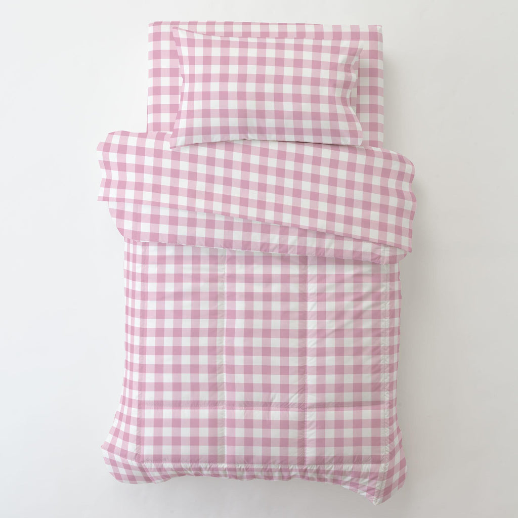 Product image for Bubblegum Gingham Toddler Pillow Case with Pillow Insert