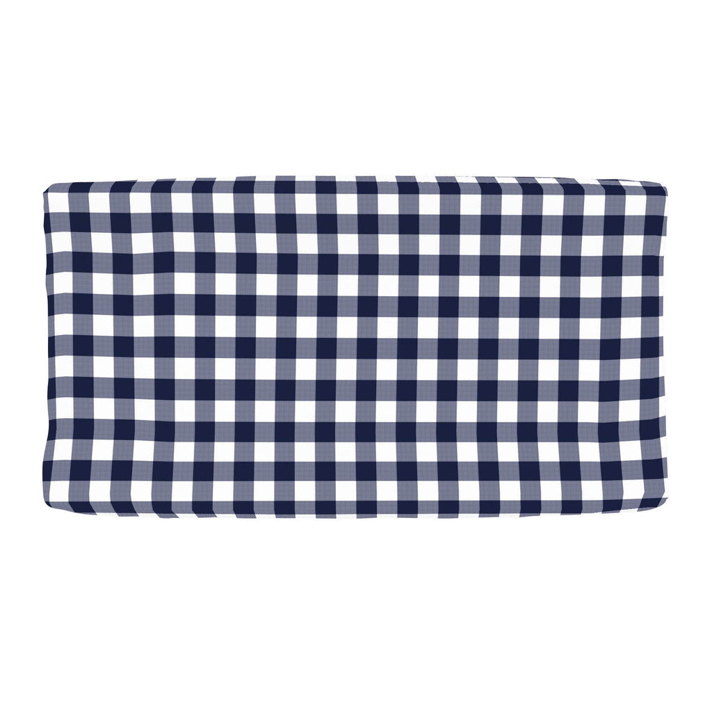 Product image for Windsor Navy Gingham Changing Pad Cover