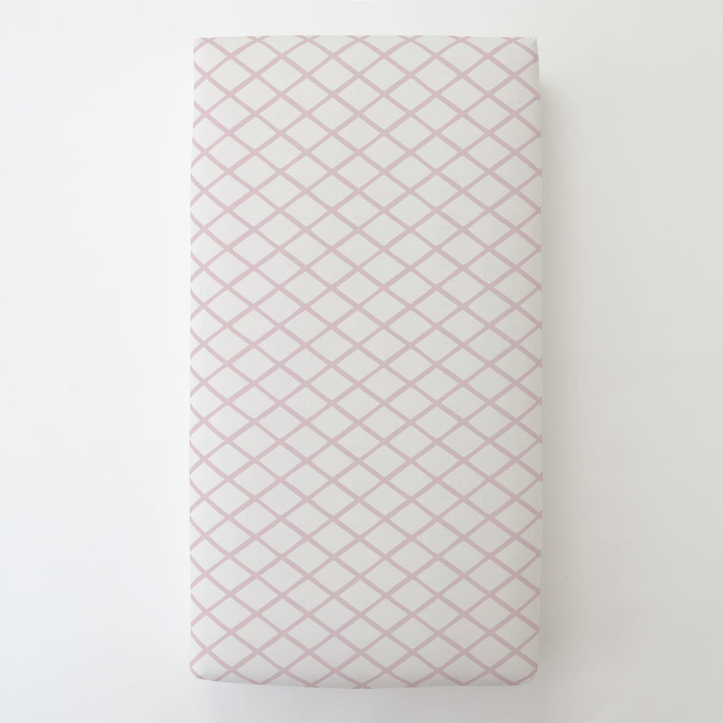 Product image for Pink Trellis Toddler Sheet Bottom Fitted