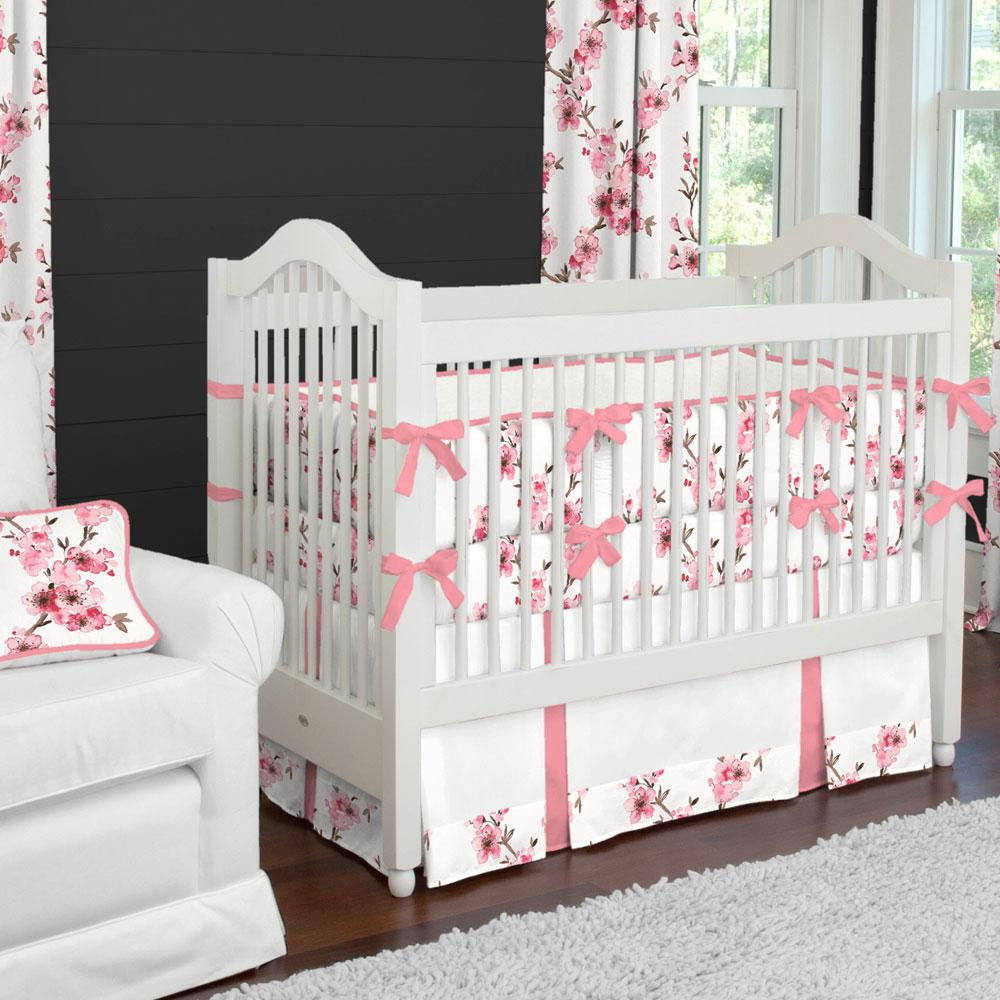 Product image for Pink Cherry Blossom Crib Bumper