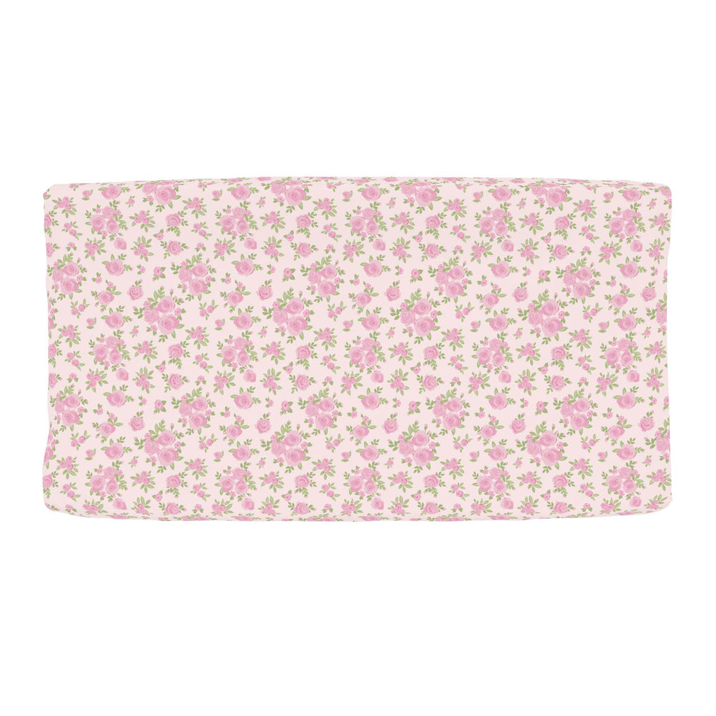 Product image for Pink Rosettes Changing Pad Cover