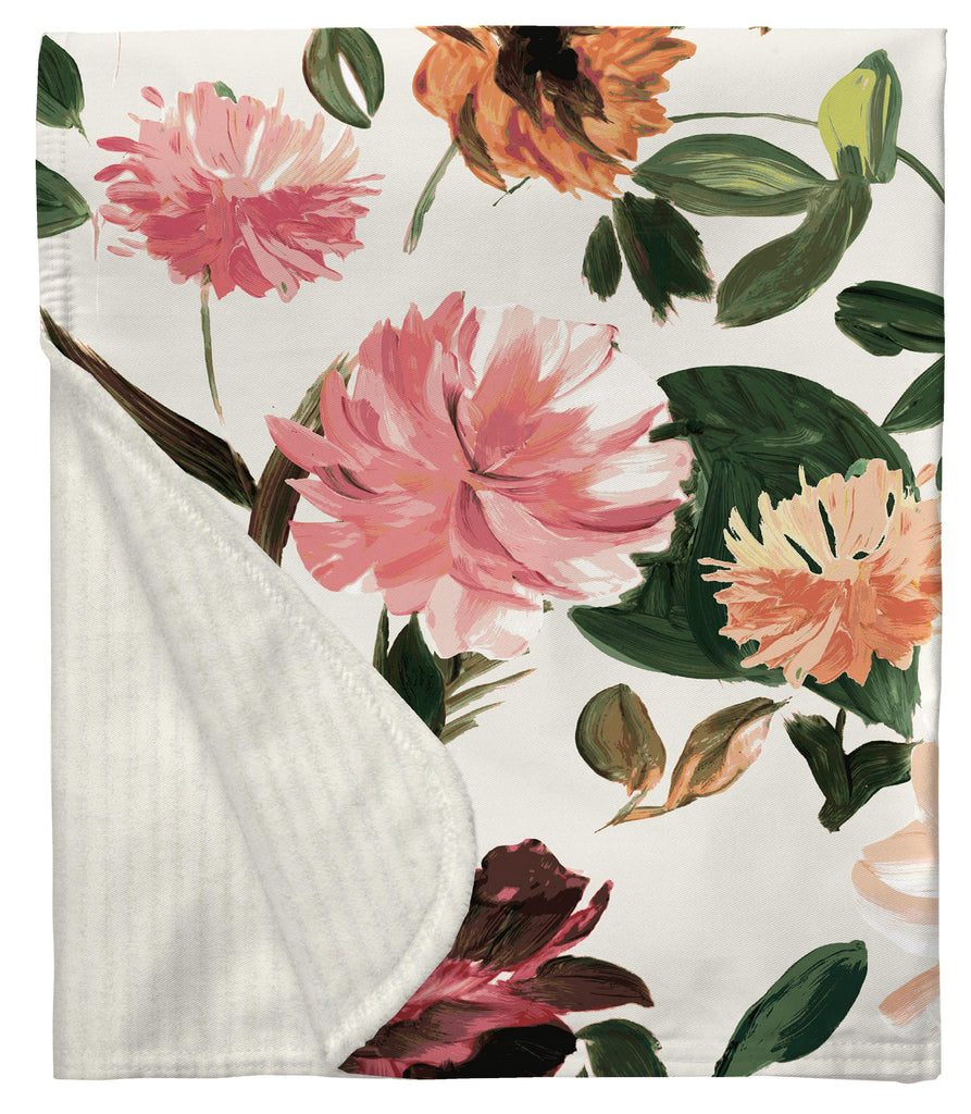 Product image for Moody Floral Baby Blanket