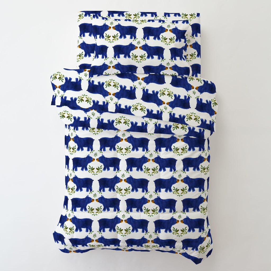 Product image for Blue Woodland Bear Toddler Comforter