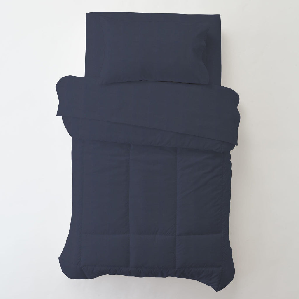 Product image for Solid Navy Toddler Pillow Case with Pillow Insert