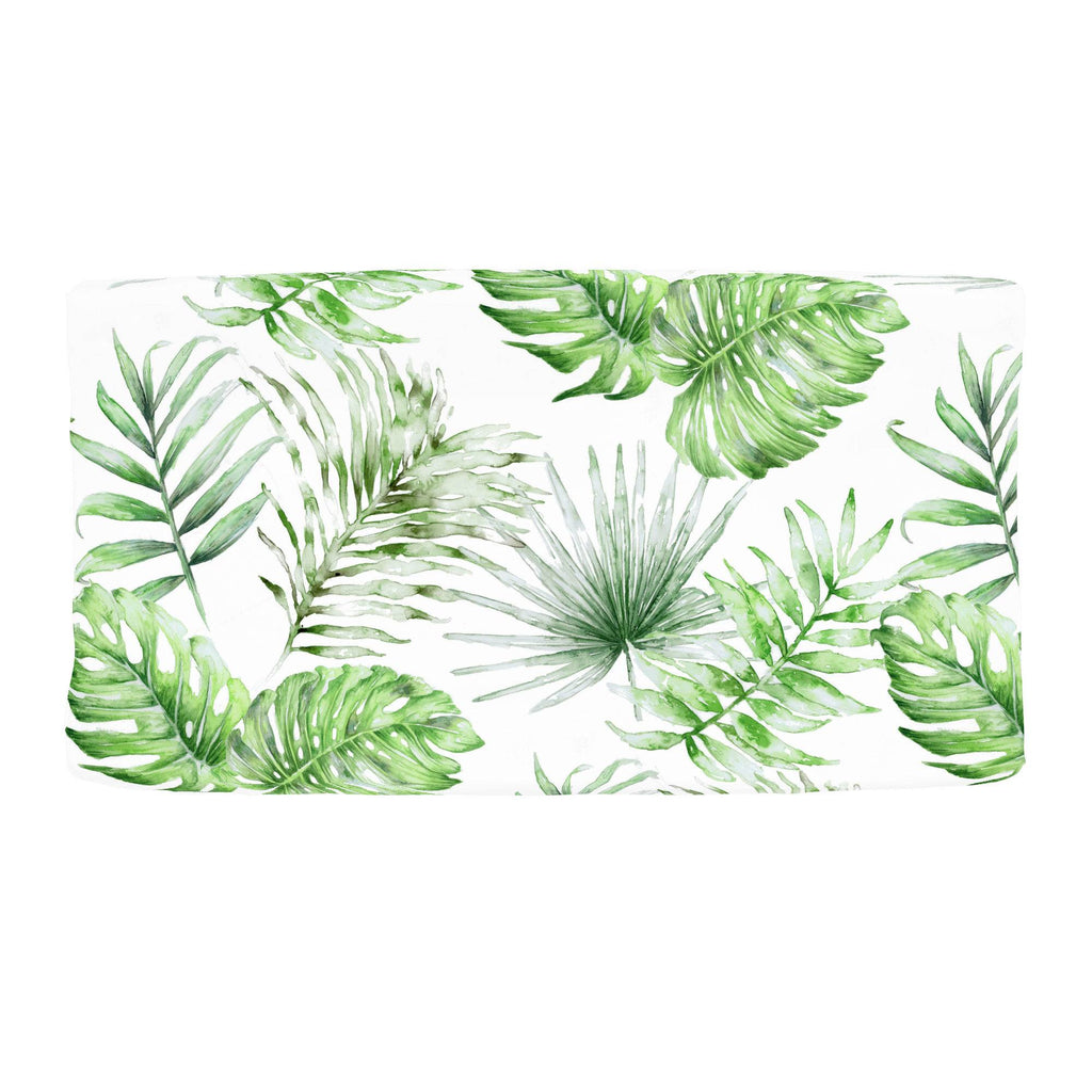 Product image for Green Painted Tropical Changing Pad Cover