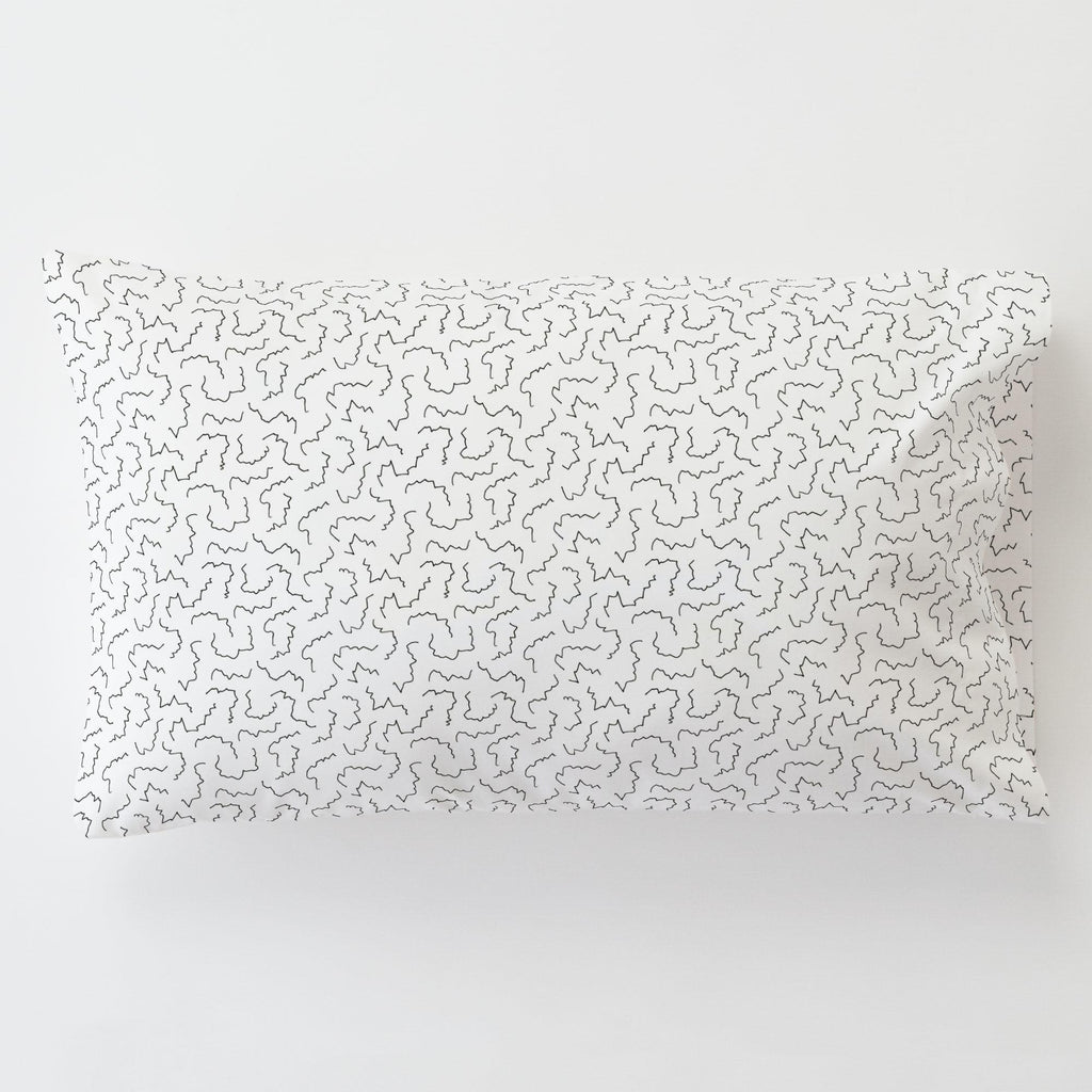 Product image for Slate Squiggles Toddler Pillow Case