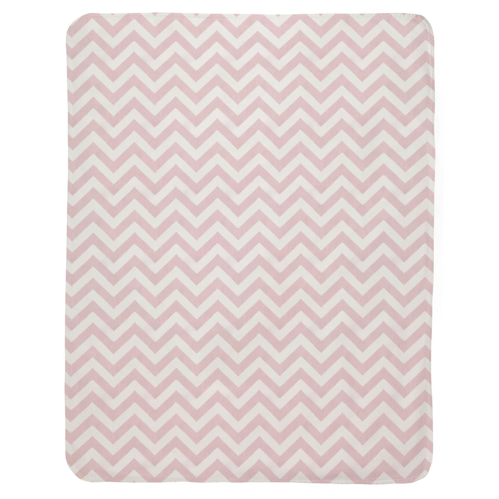 Product image for Pink Zig Zag Baby Blanket