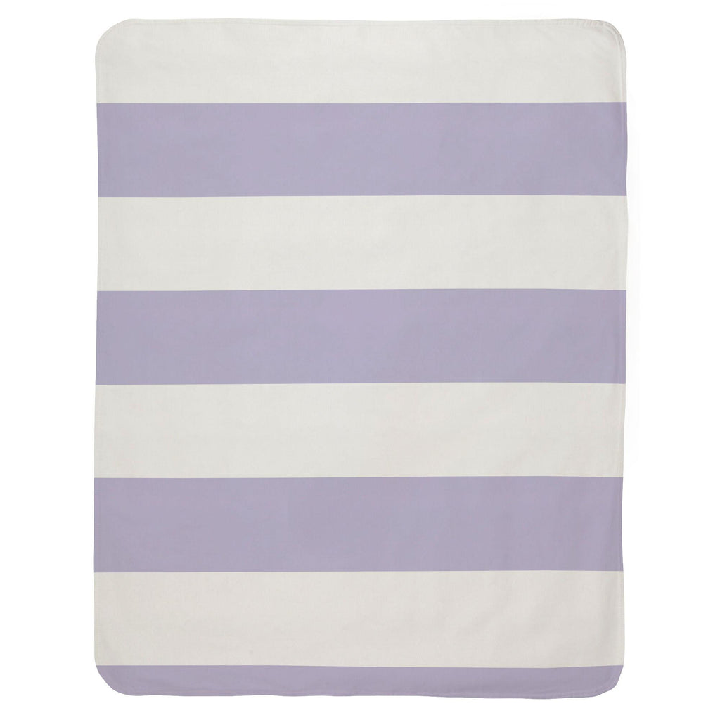 Product image for Lilac Horizontal Stripe Baby Blanket