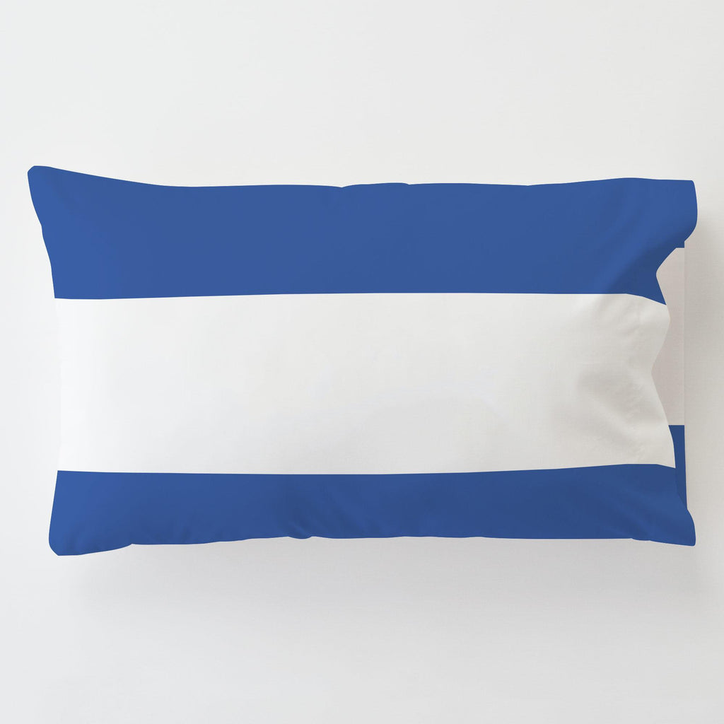 Product image for Ocean Blue Horizontal Stripe Toddler Pillow Case