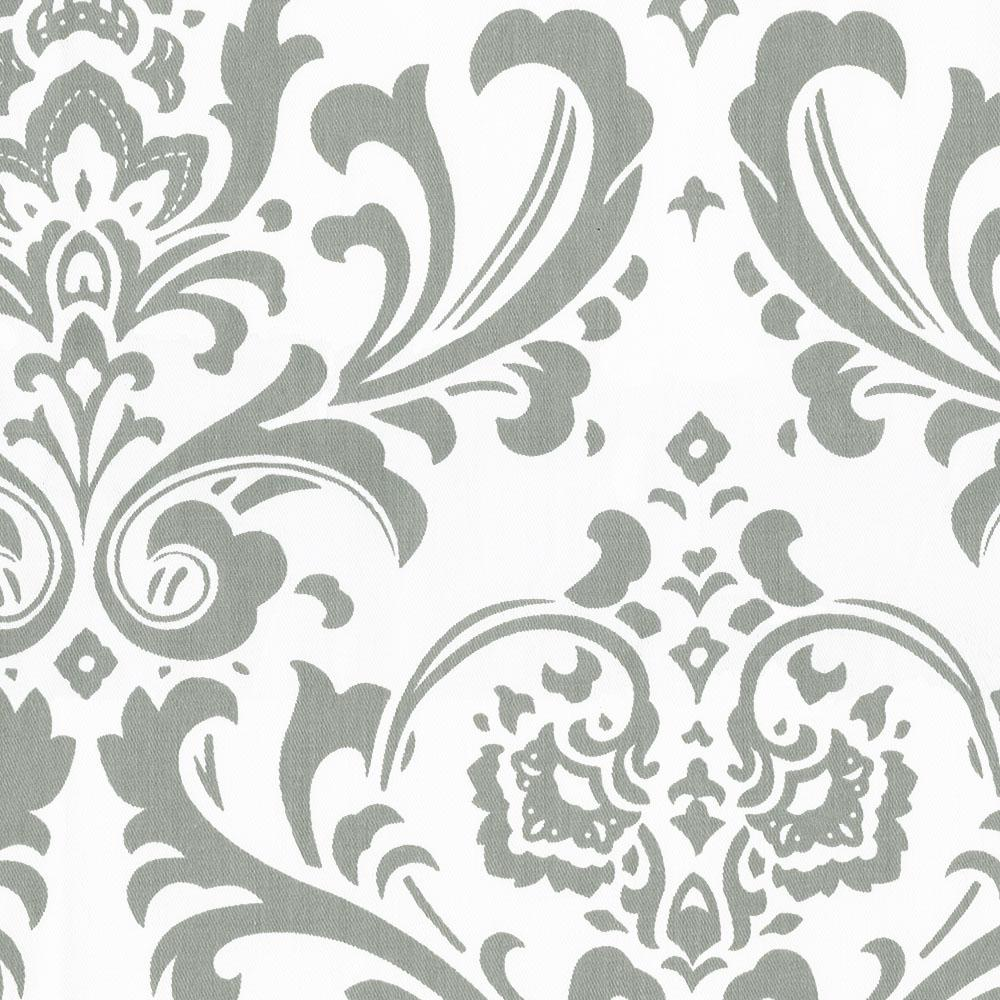 Product image for Gray Traditions Damask Drapes with Trim