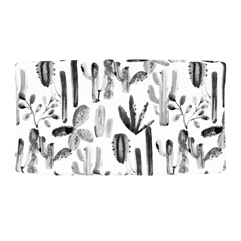 Product image for Charcoal Painted Cactus Changing Pad Cover