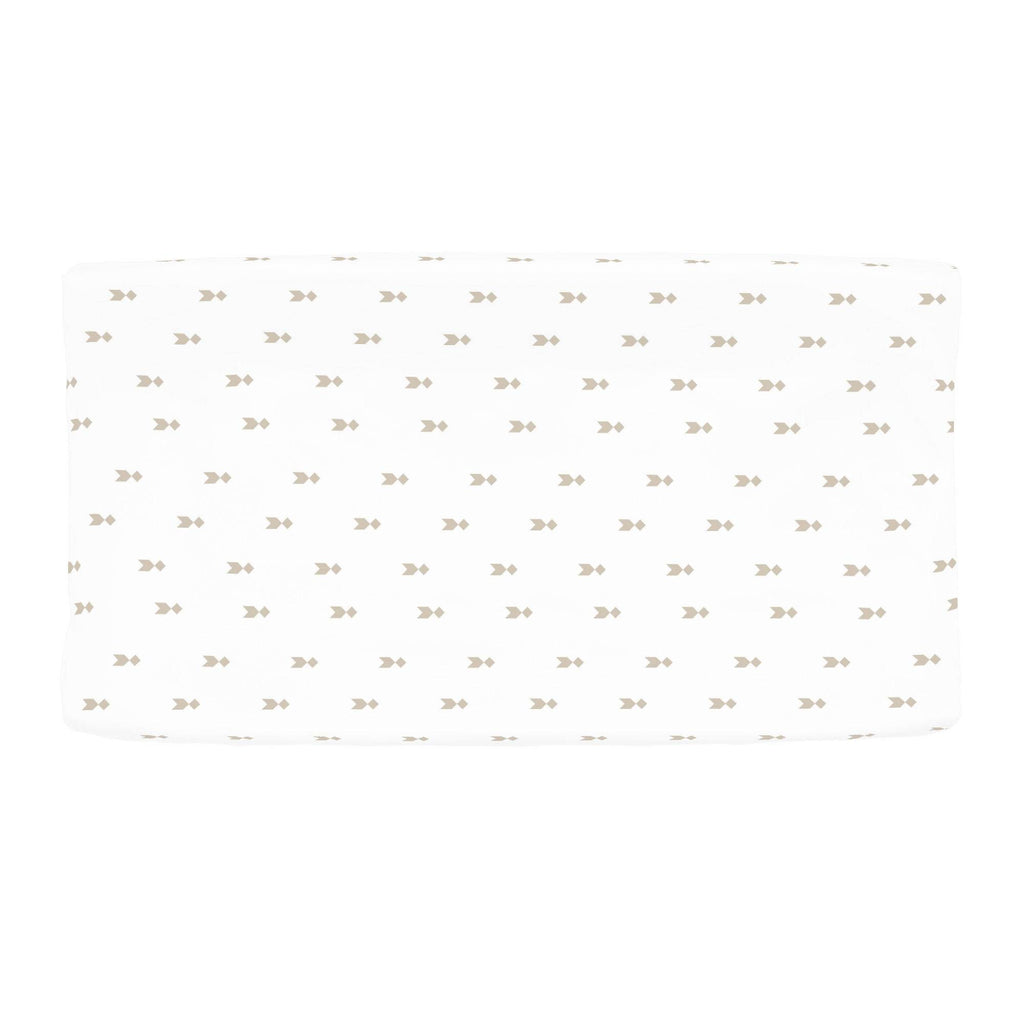 Product image for Taupe Flying Diamonds Changing Pad Cover