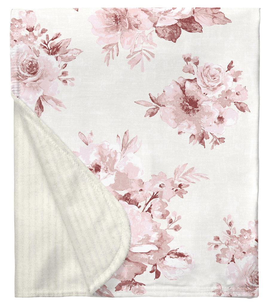 Product image for Rose Farmhouse Floral Baby Blanket