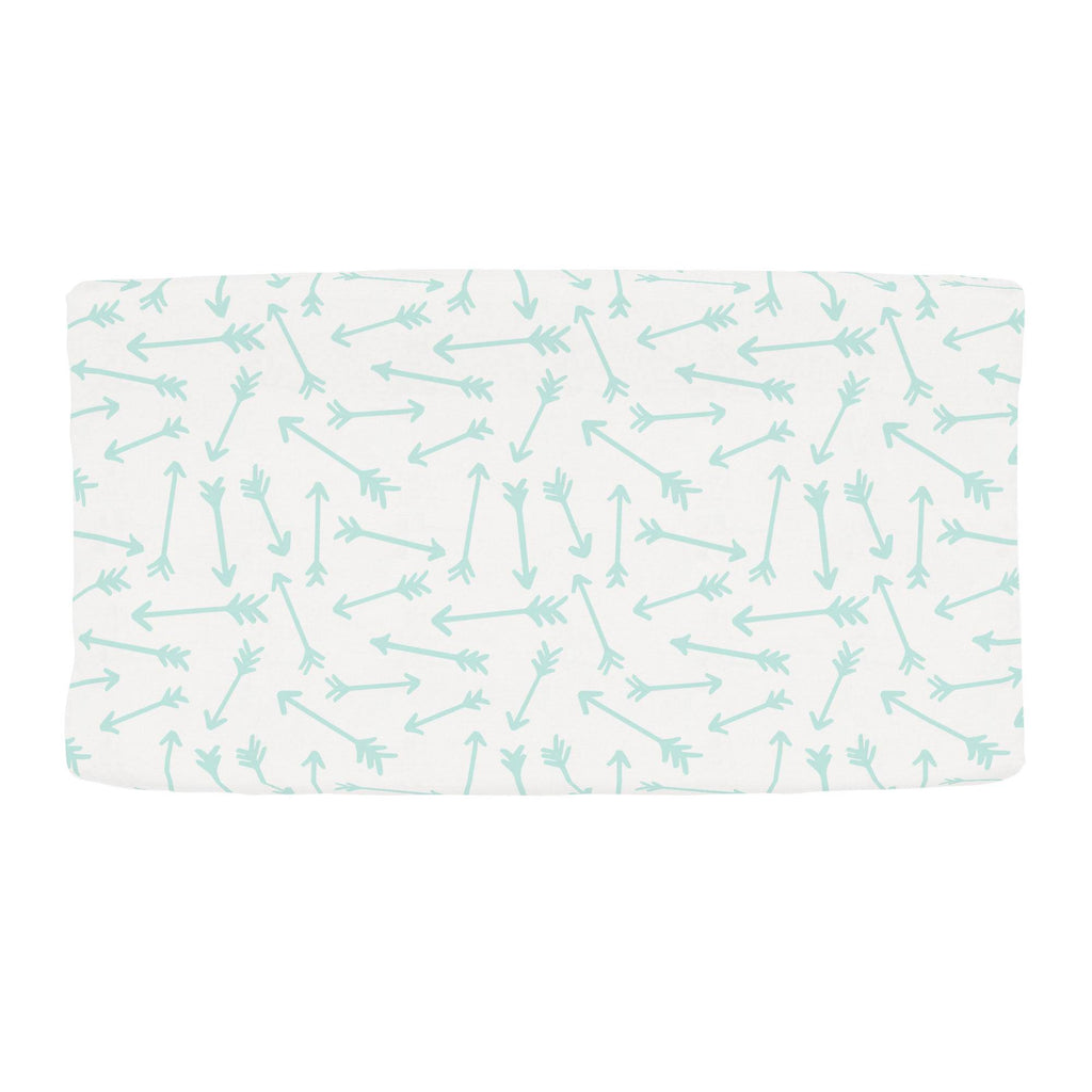 Product image for Icy Mint Whimsical Arrows Changing Pad Cover