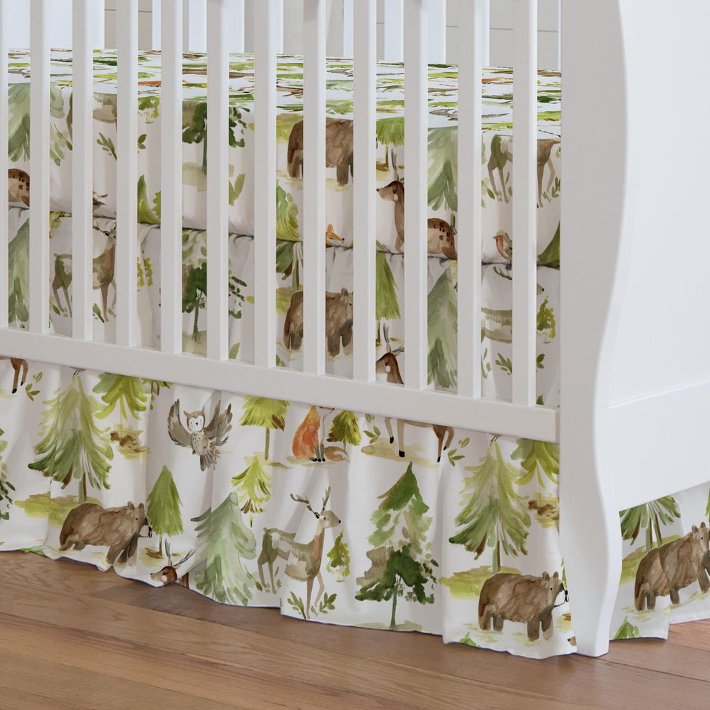 Product image for Painted Forest Crib Skirt Gathered