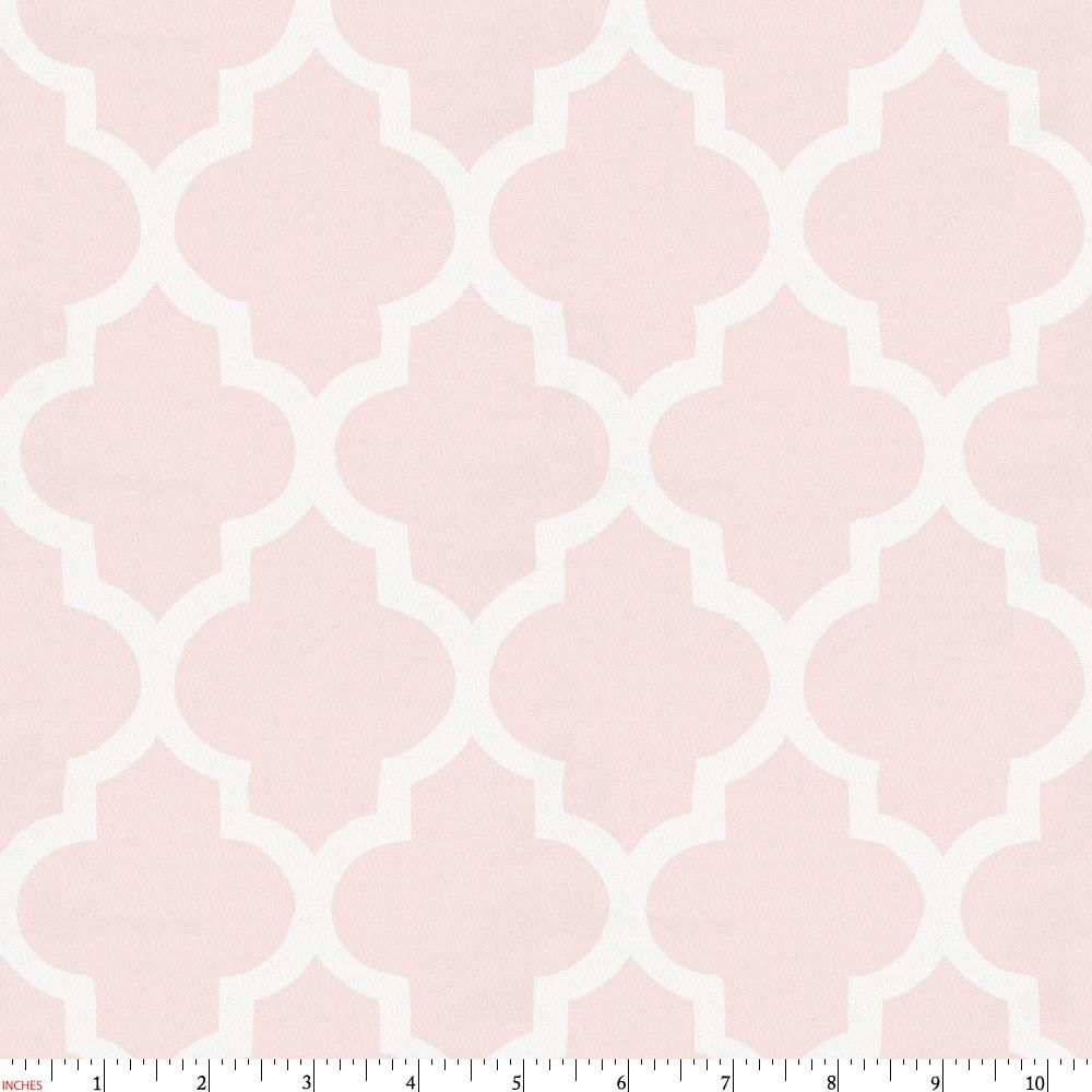 Product image for Blush Pink Hand Drawn Quatrefoil Fabric