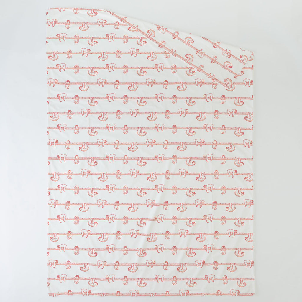 Product image for Coral Sloth Duvet Cover