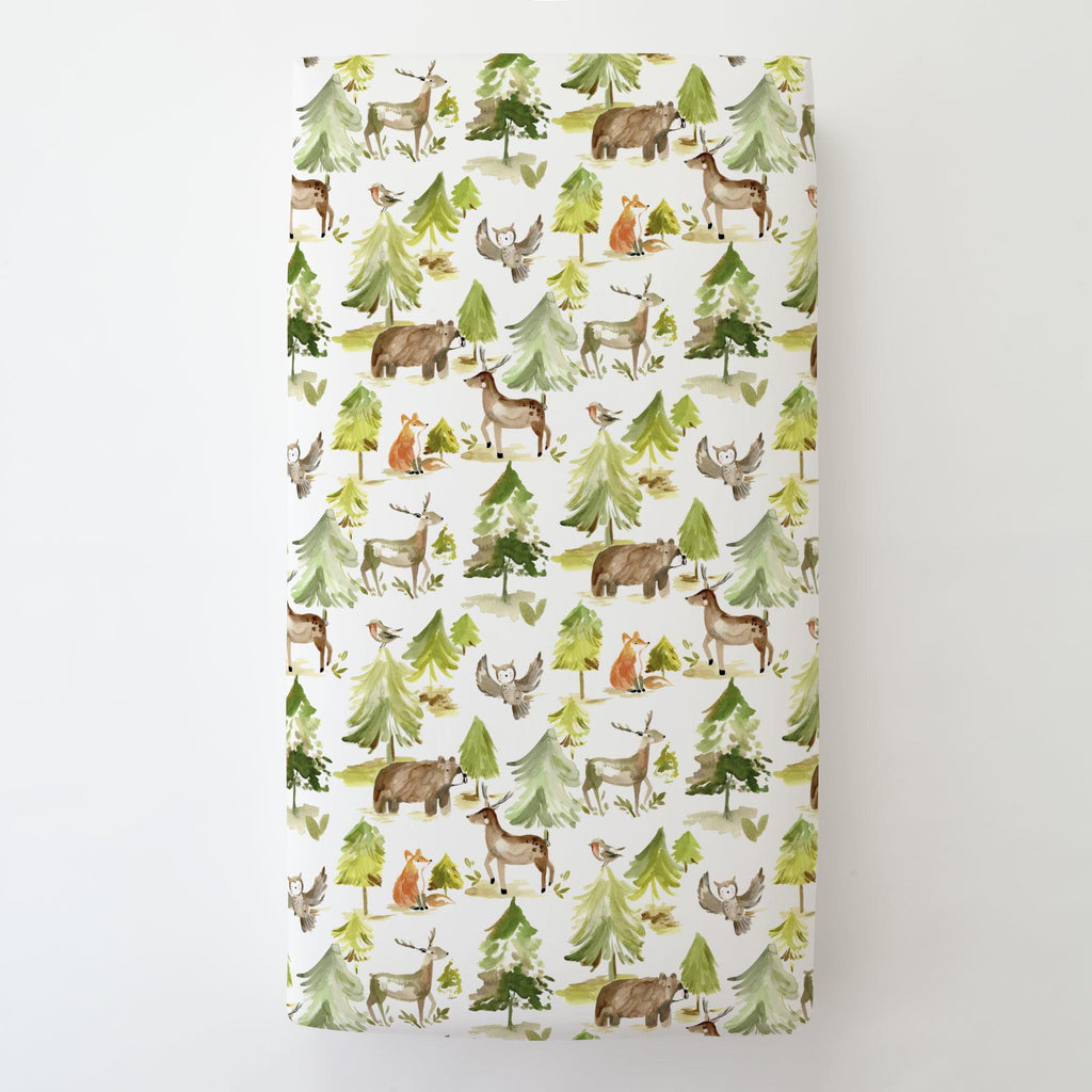 Product image for Painted Forest Toddler Sheet Bottom Fitted