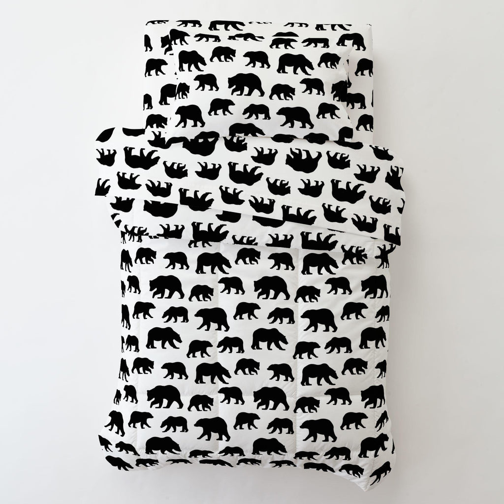 Product image for Onyx Bears Toddler Pillow Case with Pillow Insert